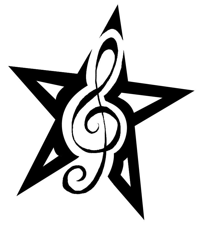 musical star tattoo design by dumaii