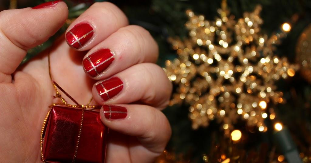 Easy Christmas Nail Art Christmas Presents Lovely