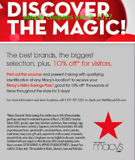 Macy's coupons march