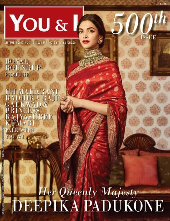 Deepika Padukone On The Cover of You & I Magazine India September 2017