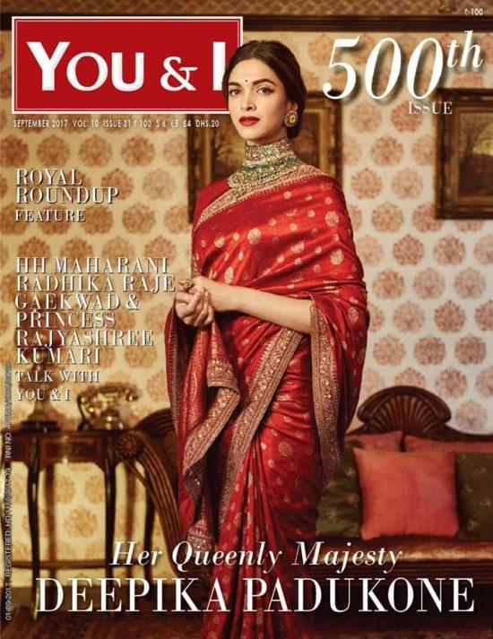 Deepika Padukone On The Cover of You & I Magazine India September 2017