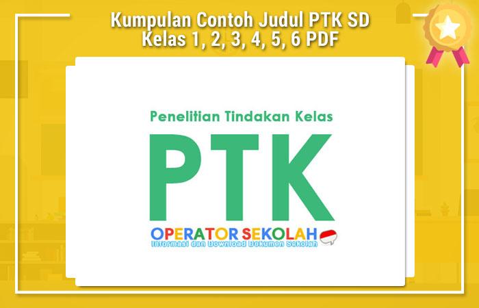 Contoh Ptk Sd Pdf