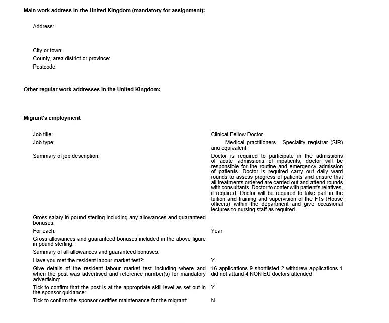 My TIER 2 work visa and TIER 2 dependant visa applications | Omars