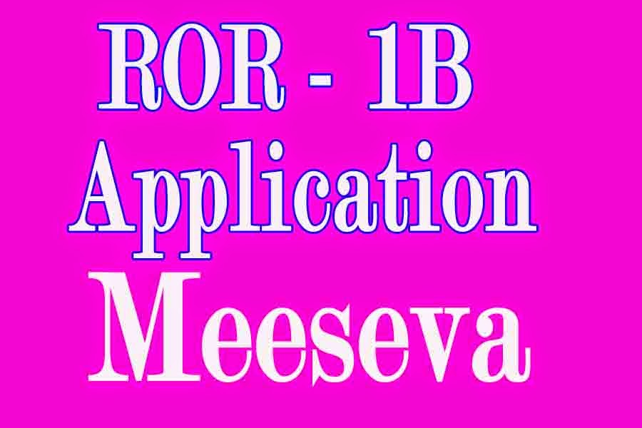 Extract of ROR 1B Application Apply in Meeseva