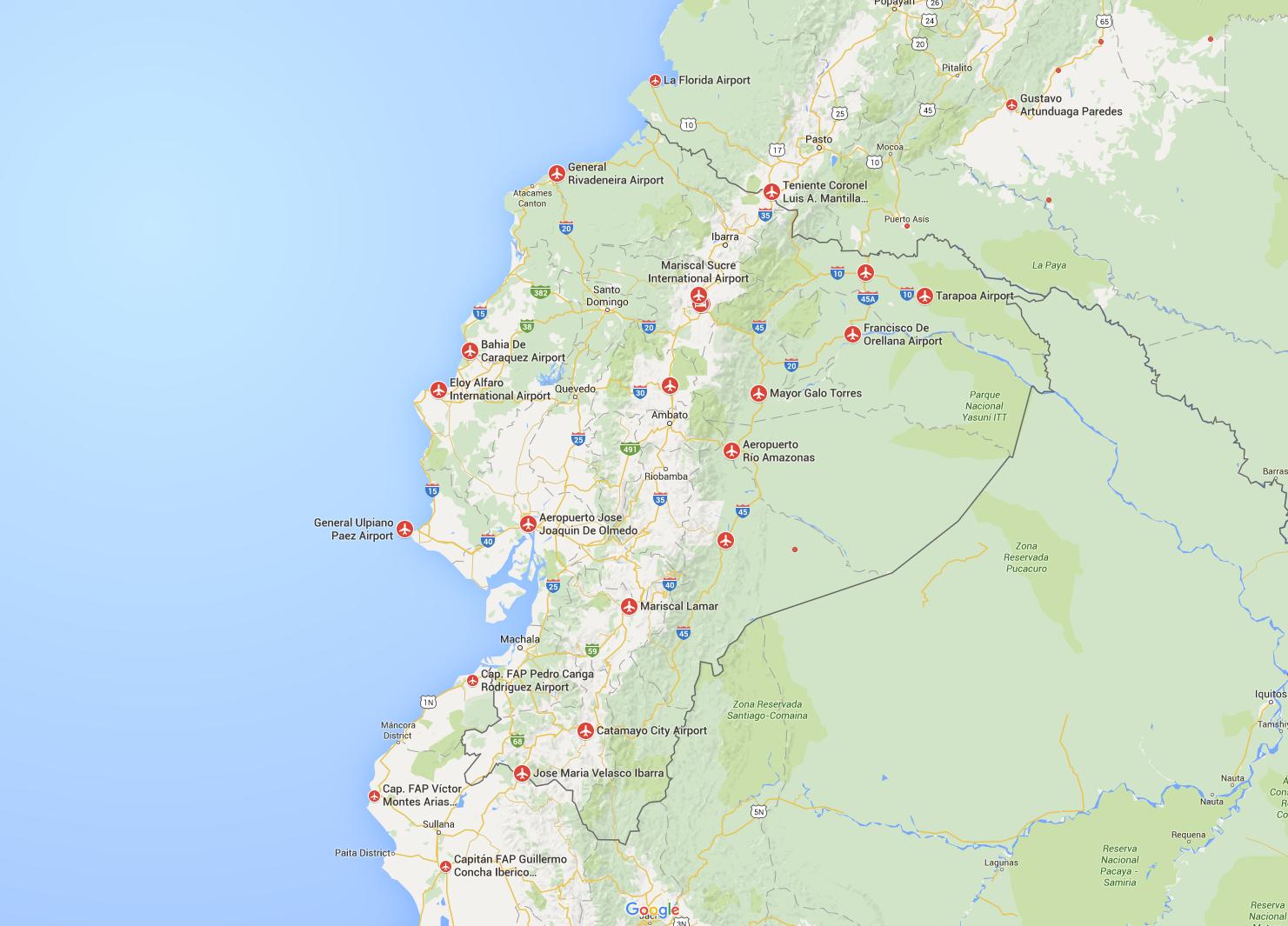 Airports Ecuador