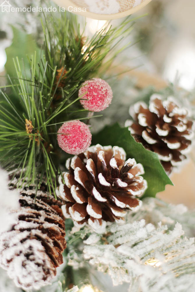 flocked christmas tree