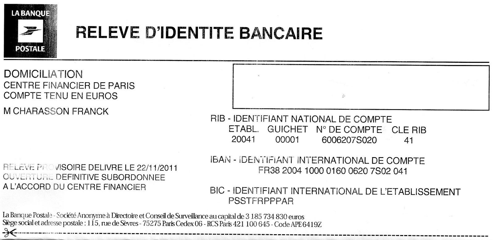 Iban La Banque Postale Steadlane Club