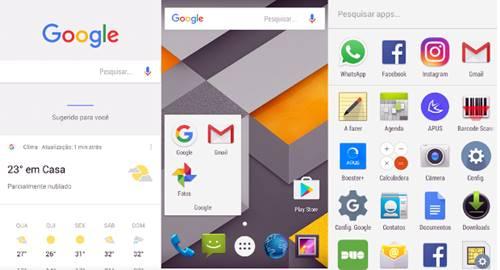 Google Now Launcher é o aplicativo oficial da Google, completamente integrado com o Google Maps, Gmail, Photos. O seu ponto forte está na versatilidade do uso dos comandos de voz