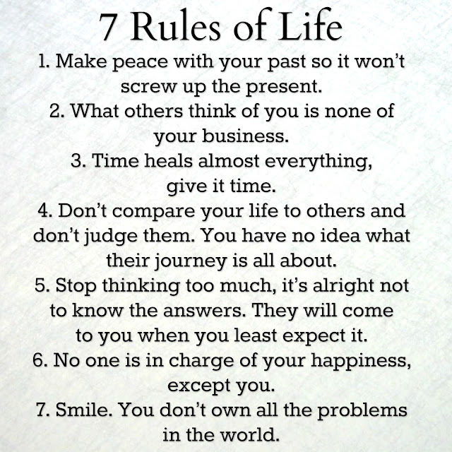 7 Rules Of Life Quote: Awesome Quotes: 7 Rules Of Life