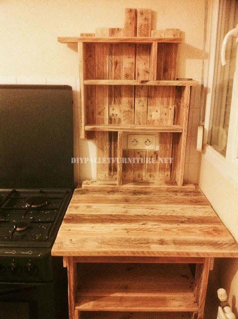 Mueblesdepaletsnet Mueble auxiliar para la cocina de palets
