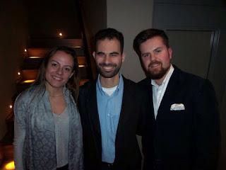 Ο Βαγγέλης Αυγουλάς, η Ελίζα Τσολάκου και ο Δημήτρης Καλαβρός