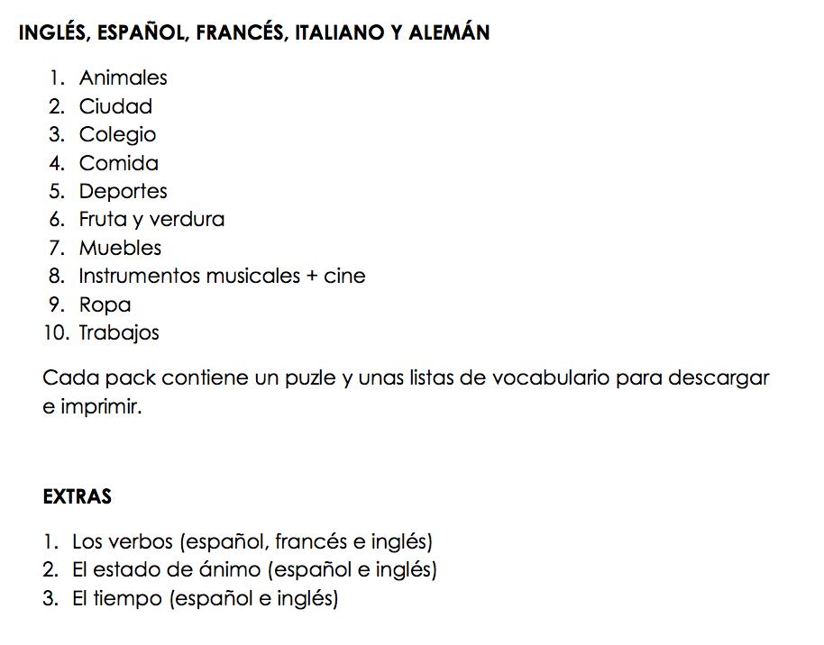 Juegos De Vocabulario Descargables Ppt El Tarro De Los Idiomas