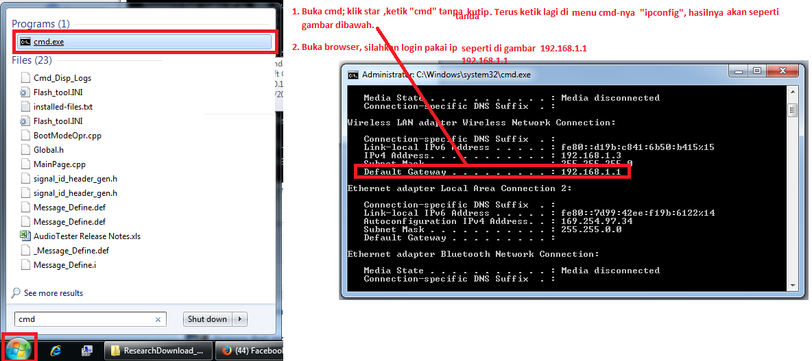 Satu Link Untuk Semua dari malingping39: Cara login setting modem