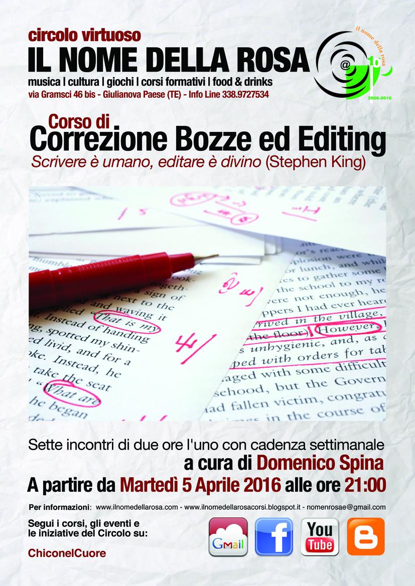 CORSO DI CORREZIONE BOZZE ED EDITING