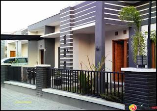 pagar cantik rumah minimalis modern