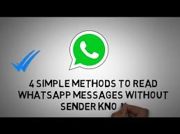 as we all know whatsapp is know showing the blue check marks which ...