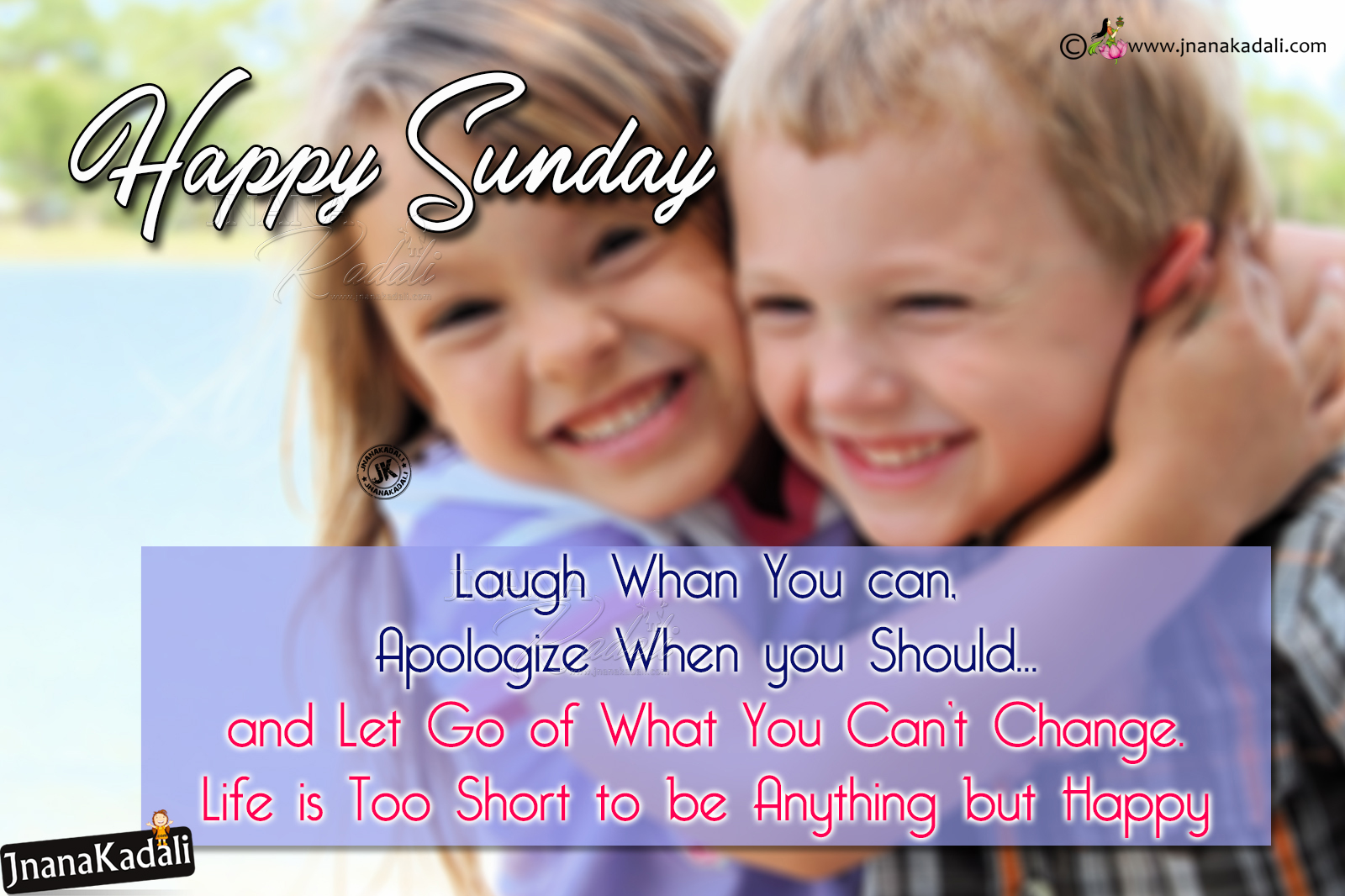 Cute Happy Sunday Greetings In English Best Friends Wallpapers With