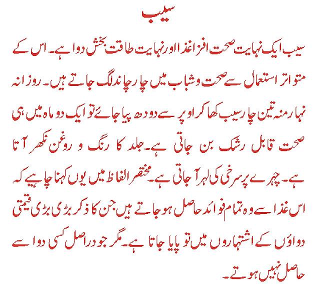 saib k fawaid in urdu