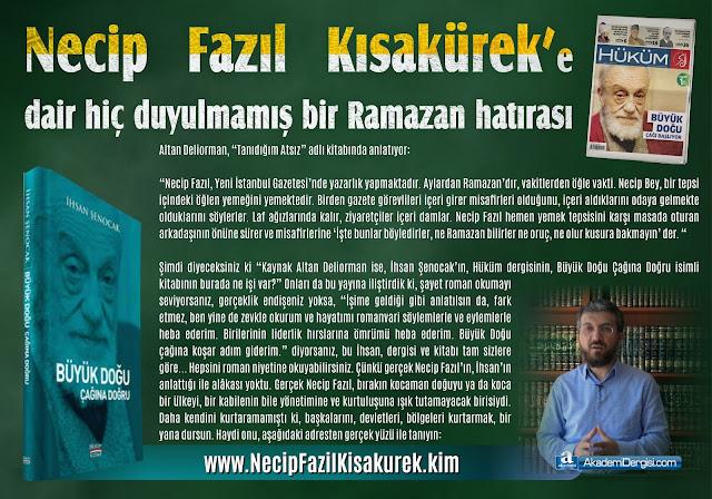 gerçek yüzü, kimdir, ihsan şenocak, Necip Fazıl Kısakürek, hüküm dergisi, islamcılık, Yakın Tarih, büyük doğu,