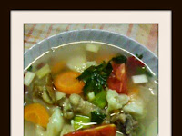 Resep Sup Ayam Sayuran ( Vegetable Chicken Soup Recipe )