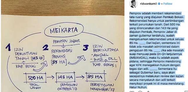 Soal Meikarta, Begini Kata Ridwan Kamil