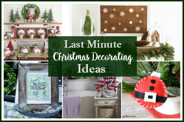 Last Minute Christmas Decorating Ideas - Foodie Friends Friday featured on Walking on Sunshine