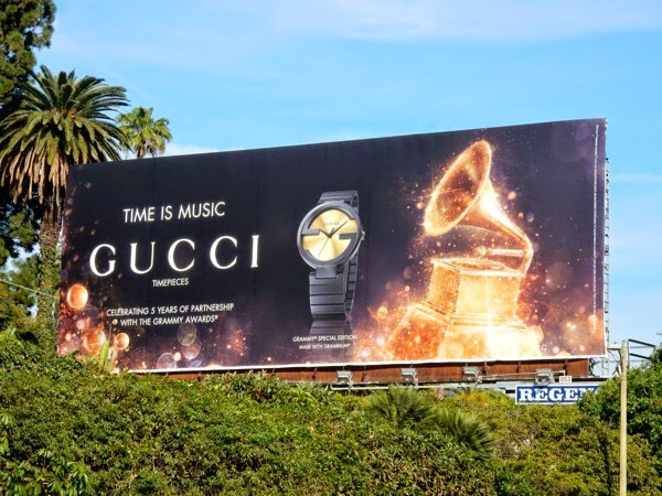 Gucci Timepieces Grammy Awards 2015 billboard