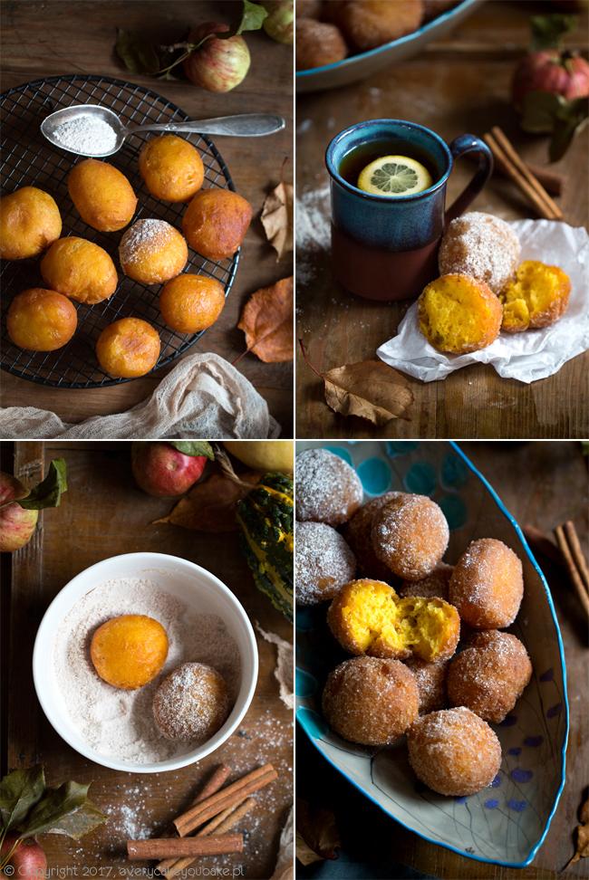 pączki dyniowo-kokosowe na mleku kokosowym