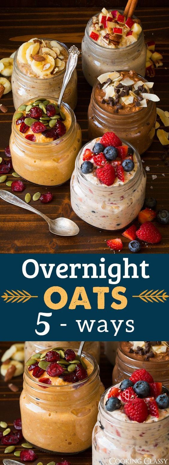 Overnight Oats Five Ways
