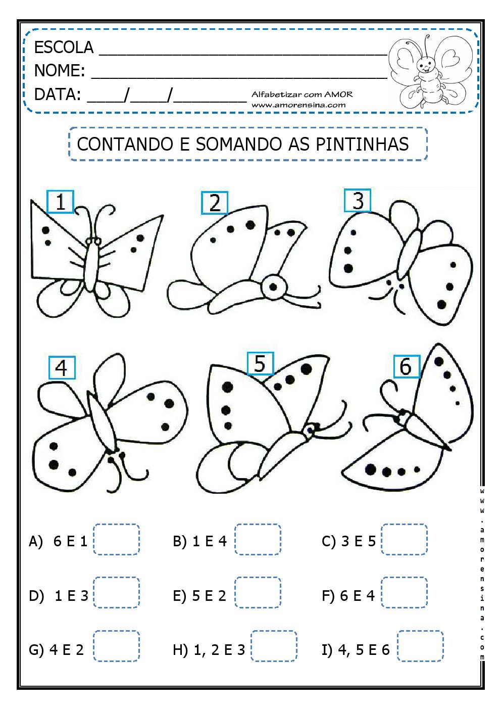Amado MATEMÁTICA COM BORBOLETAS PARA O 1º ANO ~ Alfabetizar com AMOR EM78