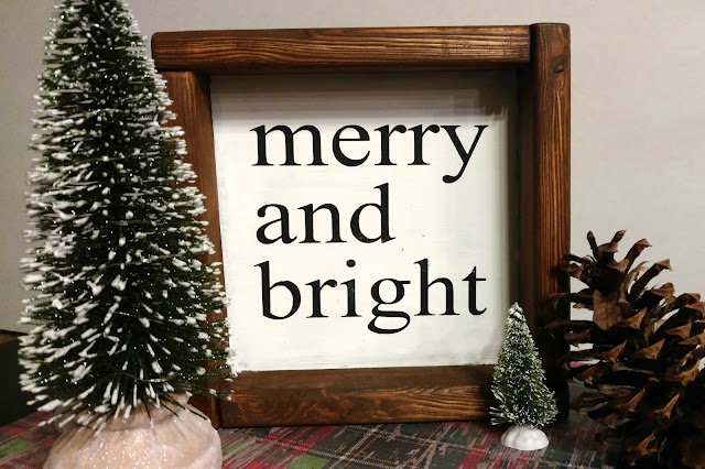 Make this box frame sign for less than $1!  Totally customizable and perfect for any home and style.