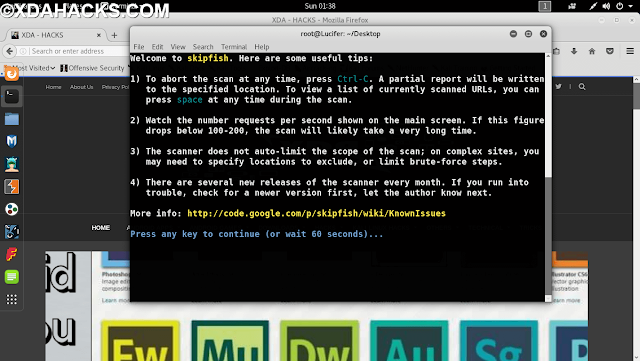 skipfish kali linux tool
