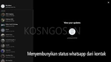 Cara menyembunyikan status whatsapp agar tidak bisa dilihat teman kontak