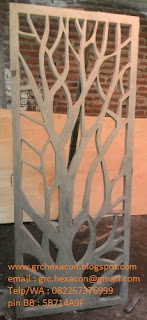 krawangan GRC floral ranting pohon