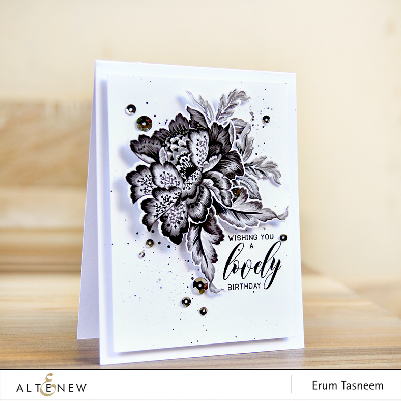 Altenew Ornamental Flower Stamp Set | Erum Tasneem | @pr0digy0