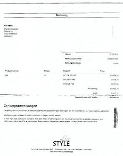 Bild Style Lux Rechnung