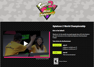 Splatoon 2 World Championship semifinals time June 11 Nintendo E3 2018