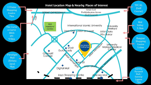 Best Western Petaling Jaya Hotel places of interest nearby