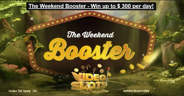 The Weekend Booster - win up to €300 cashback per day