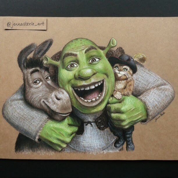 14-Shrek-Jenna-Steele-Collection-of-Pencil-Drawings-www-designstack-co