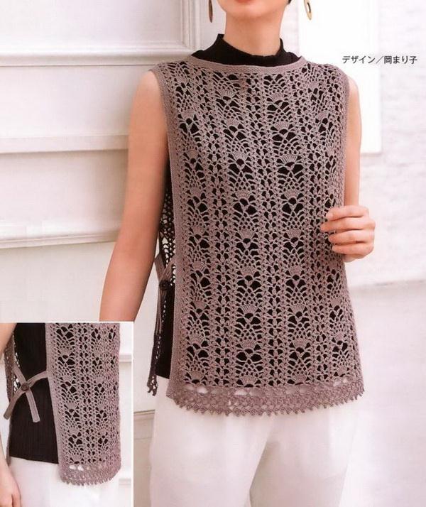 Easy Crochet Vest