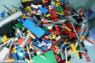 Box of old Lego