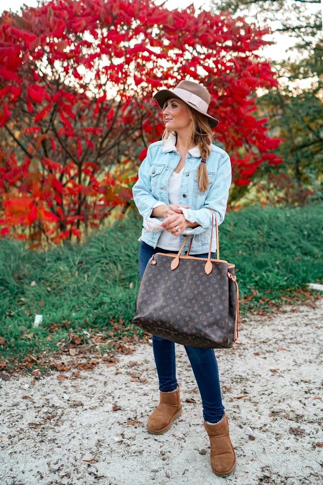 Fashionstylebyjohanna-Ugg-Boots-in-braun-Herbstoutfit-fedora-hut-filzhut-kombinieren-Louis-vuitton-tasche-neverfull-GM