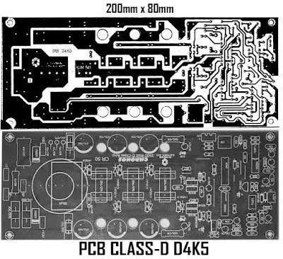 PCB Layout Class D 4500W power amplifier