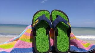Ahhsoles Green Coral Flip flops