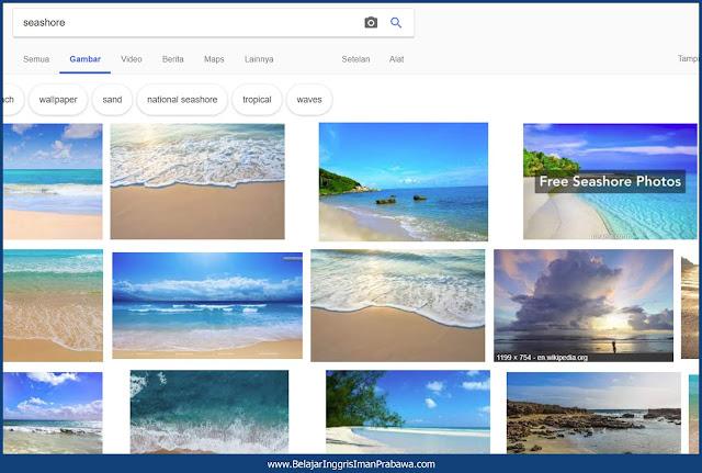 Bahasa Inggris Tepi Pantai