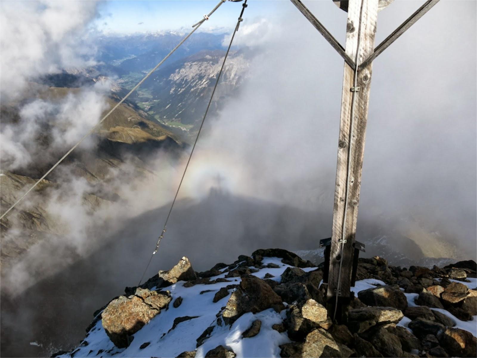 Glorienerscheinung am Gipfel