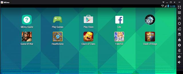 gambar emulator android terbaik gak berat, anti ngelag dan anti lelet untuk pc dan leptop Androidku