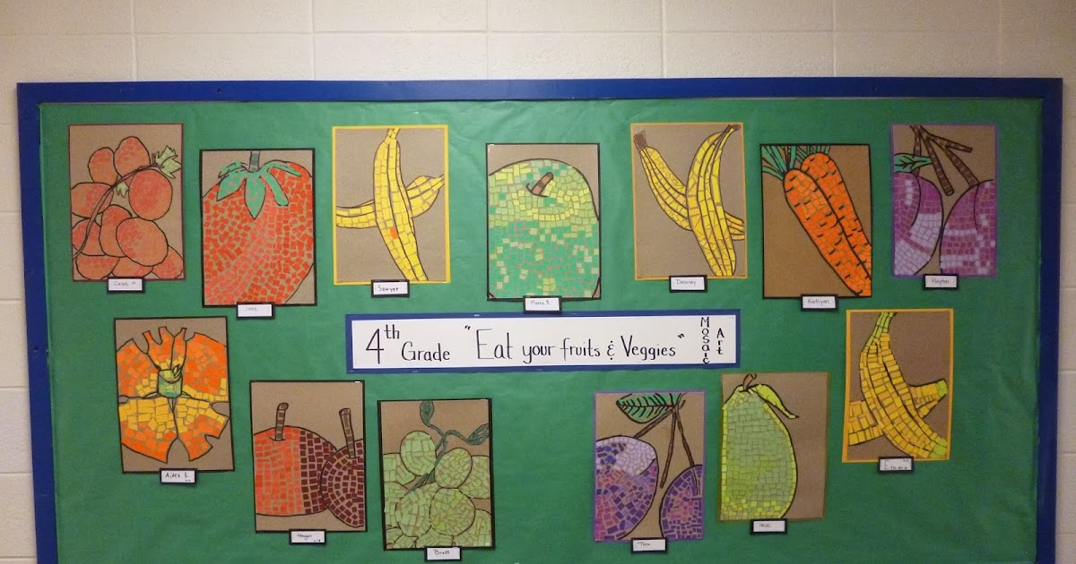 Eat Your Fruits And Veggies Mosaics