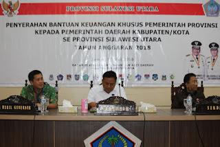 Kabupaten/Kota Dapat Bantuan Keuangan Khusus Dari Pemerintah Provinsi Sulut